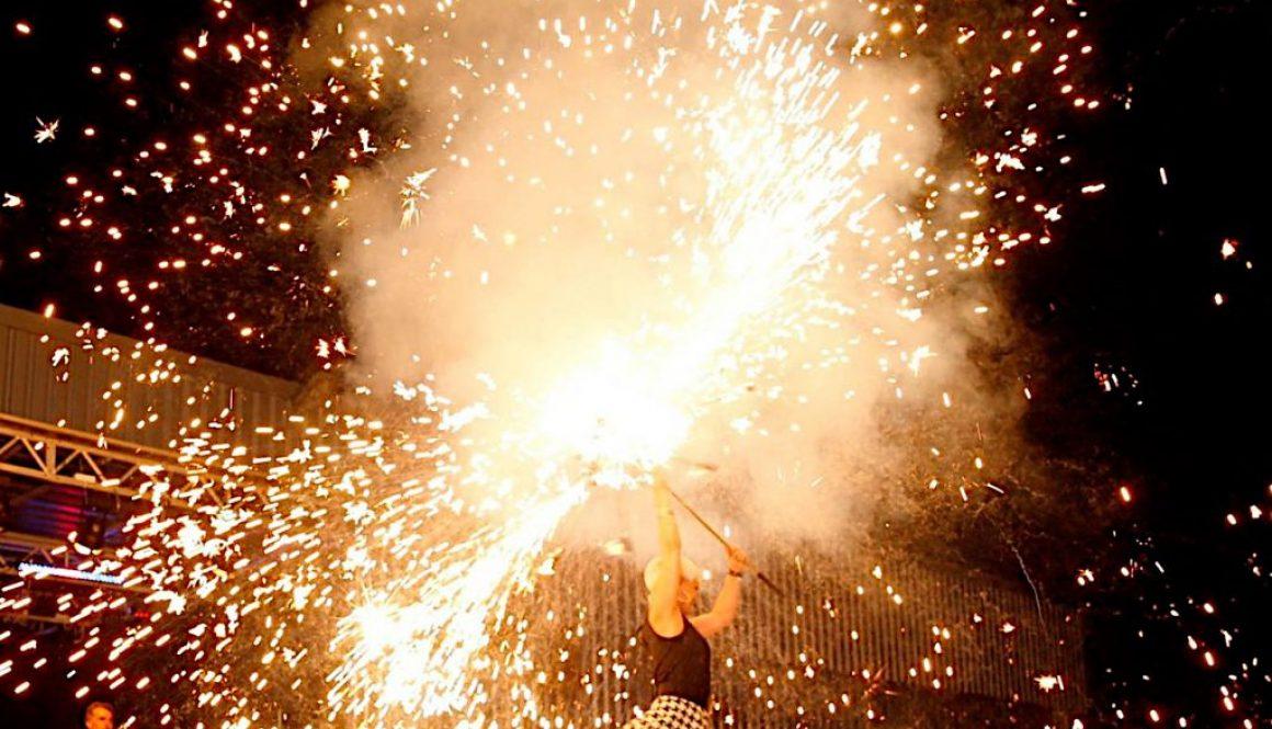 Diva Explosive hot-Feuerkünstler-Sängerin-Sabrina Wolfram-SWAP-Heidelberg-HOMBRE loco-Gunther Laudahn-Musik-Electro