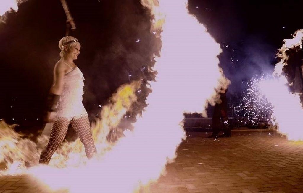 SWAP-Team-Sabrina Wolfram-Feuershow-Lichtshow-Livemusik-Pyrotechniker-Heidelberg-Mannheim